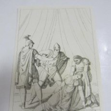 Arte: ANTIGUO GRABADO. 1822. PERFECTO ESTADO. GRABADO DE SOFONISBA. 10.5 X 17CM. Lote 58255385