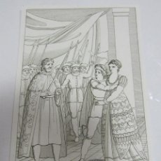 Arte: ANTIGUO GRABADO. 1822. PERFECTO ESTADO. GRABADO DE DON GARZIA. 10.5 X 17CM. Lote 58255413
