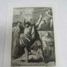 Arte: ANTIGUO GRABADO. 1823. PERFECTO ESTADO. GRABADO DE VIRGINIO. 8.5 X 12CM. Lote 58256654