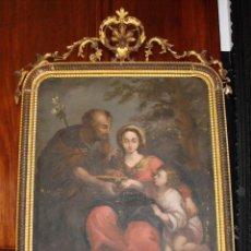 Arte: OLEO SOBRE LIENZO. S.XVIII. LA VIRGEN CON EL NIÑO Y SAN JOSÉ. BUENA FACTURA.. Lote 58267374