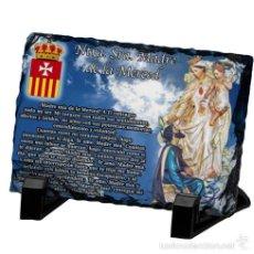 Arte: REPRODUCCIÓN EN PIZARRA 20X30 DE NTRA. SRA. MADRE DE LA MERCED. Lote 174664929