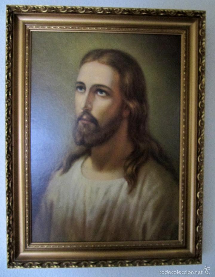 precioso cuadro enmarcado de jesús. jesucristo. - Comprar en ...