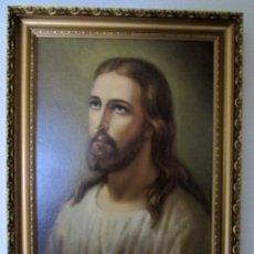 Arte: PRECIOSO CUADRO ENMARCADO DE JESÚS. JESUCRISTO. MEDIDAS: 64,5 X 46 CM. ELEGANTE MARCO DE 5 CM.. Lote 58334112