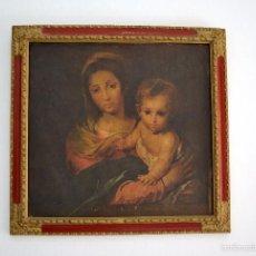 Arte: PRECIOSO CUADRO TABLET SIMULANDO ÓLEO VIRGEN DE LA SERVILLETA BARTOLOMÉ ESTEBAN MURILLO. Lote 58415926