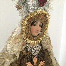 Arte: VIRGEN TALLA DE MADERA ANTIGUA CAP POTA SIGLO XVIII-XIX ?. Lote 58479233