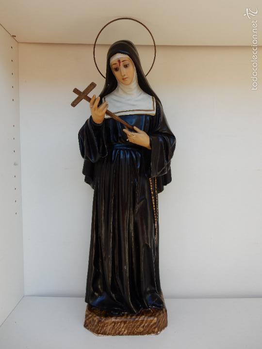 ANTIGUA ESCULTURA DE SANTA RITA DE CASIA. OLOT (Arte - Arte Religioso - Escultura)