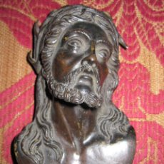 Arte: EXTRAORDINARIO BUSTO DE CRISTO. ALTORELIEVE EN BRONCE PATINADO DEL S.XVIII O XIX. GRAN CALIDAD. Lote 58580398