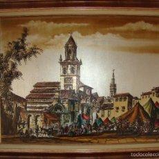 Arte: PINTURA COSTUMBRISTA SEVILLA CALLE FERIA (MACARENA). Lote 58658141