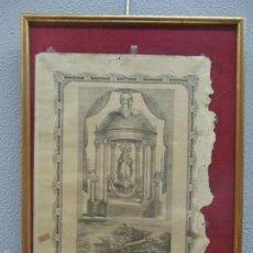 Arte: LITOGRAFÍA - VERDADERO RETRATO NUESTRA SRA DE LOS ÁNGELES - GERONA, GIRONA - AÑO 1769. Lote 59556891