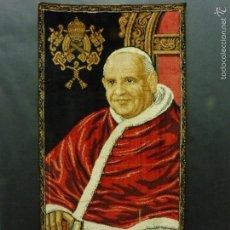 Arte: TAPIZ RELIGIOSO IMAGEN SAN JUAN XXIII 49 X 100 CM CD127. Lote 59747844