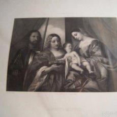 Arte: LITOGRAFIA RELIGIOSA ASUNTO MISTICO REAL MUSEO DE MADRID. Lote 59849384