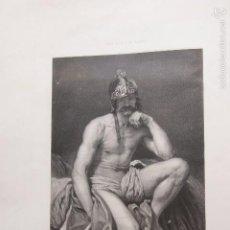 Arte: LITOGRAFIA RELIGIOSA EL DIOS MARTE VELAZQUEZ LITOGRAFIA POR V LOUTREL REAL MUSEO DE MADRID. Lote 59851076