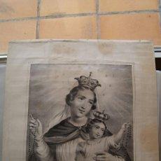 Arte: LITOGRAFIA RELIGIOSA NUESTRA SEÑORA DEL ROSARIO SIGLO XIX TURGIS. Lote 59855592