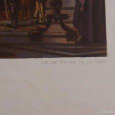 Arte: LITOGRAFIA RELIGIOSA INTERIOR DE UNA CATEDRAL LLENA DE GENTE PARIS SIGLO XIX. Lote 60269495