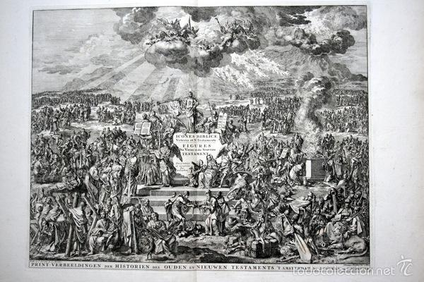 1729 - IMAGENES DEL ANTIGUO Y NUEVO TESTAMENTO - BIBLIA - LUYKEN - ENGRAVING - GRAVURE (Arte - Arte Religioso - Grabados)