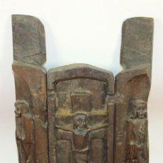 Arte: TRIPTICO RELIGIOSO EN MADERA TALLADA. MEXICO. SIGLO XIX / XX. . Lote 60435211