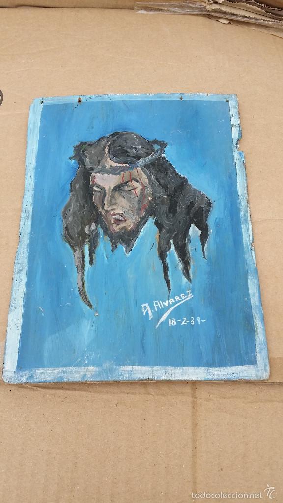 PEQUEÑA PINTURA RELIGIOSA 1936 (Arte - Arte Religioso - Pintura Religiosa - Oleo)