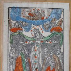 Arte: PRECIOSO GRABADO MADERA COLOREADO ÉPOCA. NUESTRA SEÑORA DE LA MERCED.. Lote 60576911
