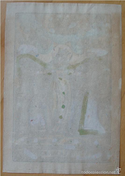 Arte: Precioso grabado madera coloreado época. Nuestra Señora de la Merced. - Foto 2 - 60576911