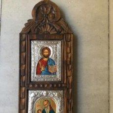 Arte: ICONO DOBLE PLATA.. Lote 59129300