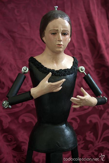 VIRGEN DE CANDELERO DE 65 CTM SIN VESTIR. (Arte - Arte Religioso - Escultura)