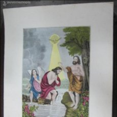 Arte: LITOGRAFIA. BAPTISM OF CHRIST. ILUMINADA A MANO. LITH & PUB.BY J.BRILLIE. NEW YORK. 43 X 33CM. Lote 60827459