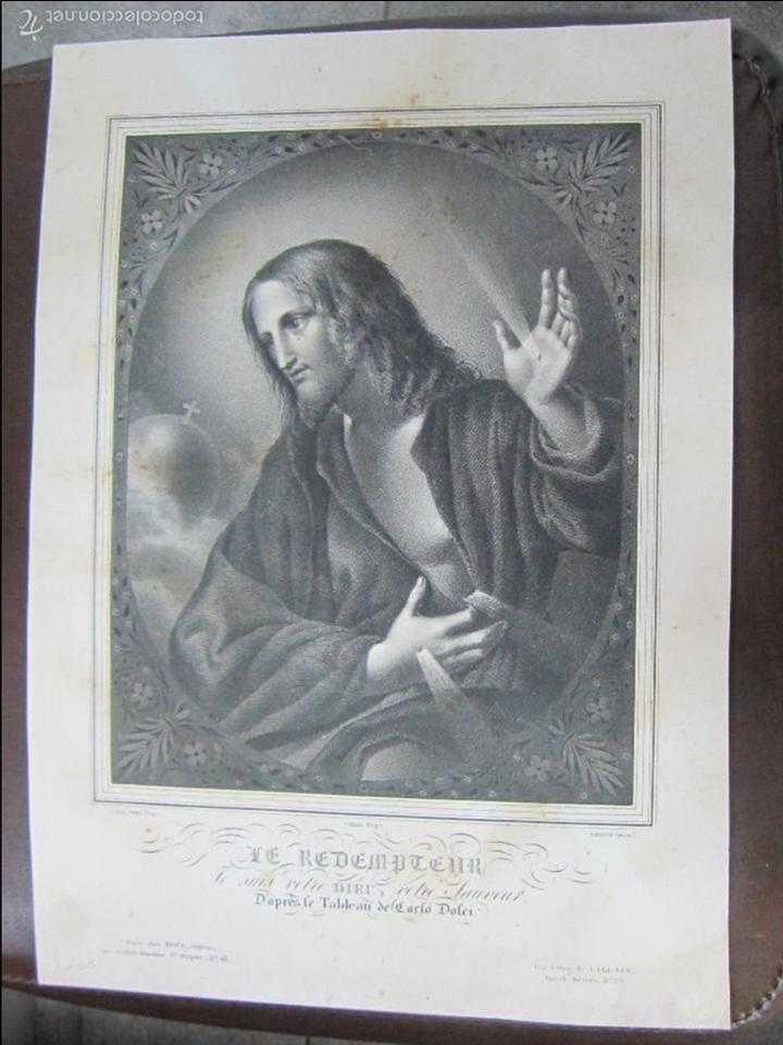 LITOGRAFIA. LE REDEMPTEUR. LITOGRAFIA DE VILLAIN. 38 X 28CM (Arte - Arte Religioso - Litografías)