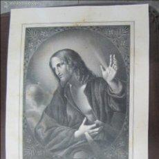 Arte: LITOGRAFIA. LE REDEMPTEUR. LITOGRAFIA DE VILLAIN. 38 X 28CM. Lote 60828047