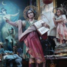 Arte: ESBELTO SAN PANCRACIO ESTUCO DE OLOT CON CORONA. Lote 60902355
