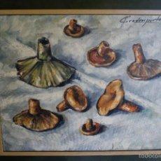 Arte: PINTURA ENMARCADA DEL PINTOR DE BARCELONA CADENA PORTAL - ROVELLONS -. Lote 61179063