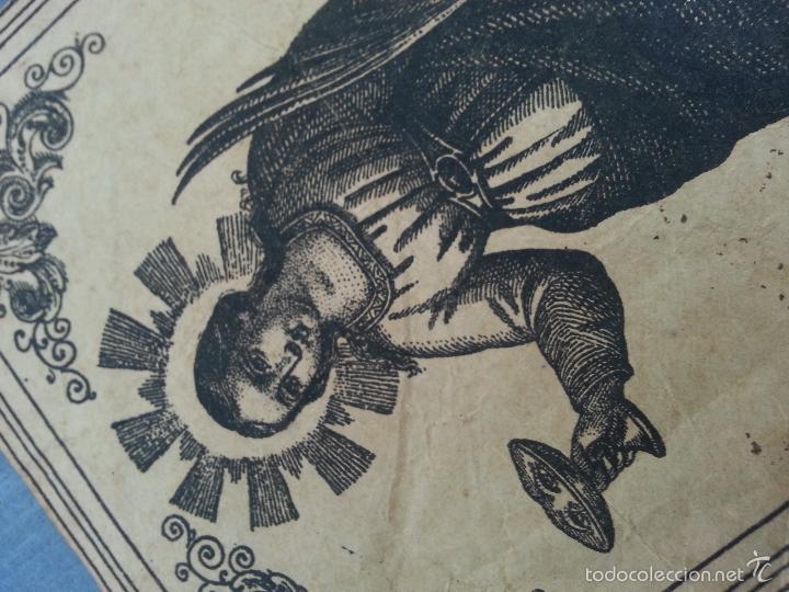 Arte: MUY ANTIGUO GRABADO SANTA LUCIA VIRGEN Y MARTIR - PAPEL ORIGINAL - LUIS F. APICOLLA S. VIAGIO 38 - Foto 2 - 61207783
