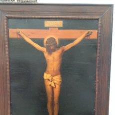 Arte: GRABADO GRAN FORMATO DE EL SANTO CRISTO DE DIEGO VELÁZQUEZ. KUNZLI FRERES. EDITEURS ZURICH. Lote 61208117
