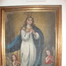 Arte: OLEO SIGLO XVIII VIRGEN INMACULADA. Lote 61220347