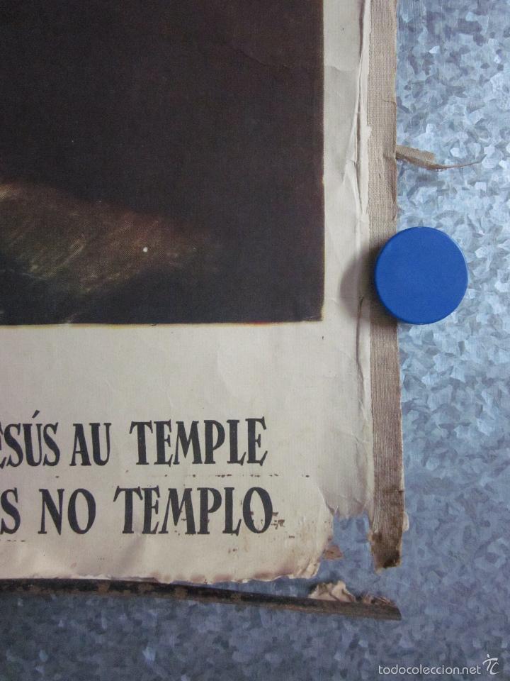 Arte: CARTEL PRESENTACION NIÑO JESUS EN EL TEMPLO. EDIT JOSÉ VILAMALA. CATEQUESIS ESCUELA AÑOS 20-30. - Foto 2 - 61249347