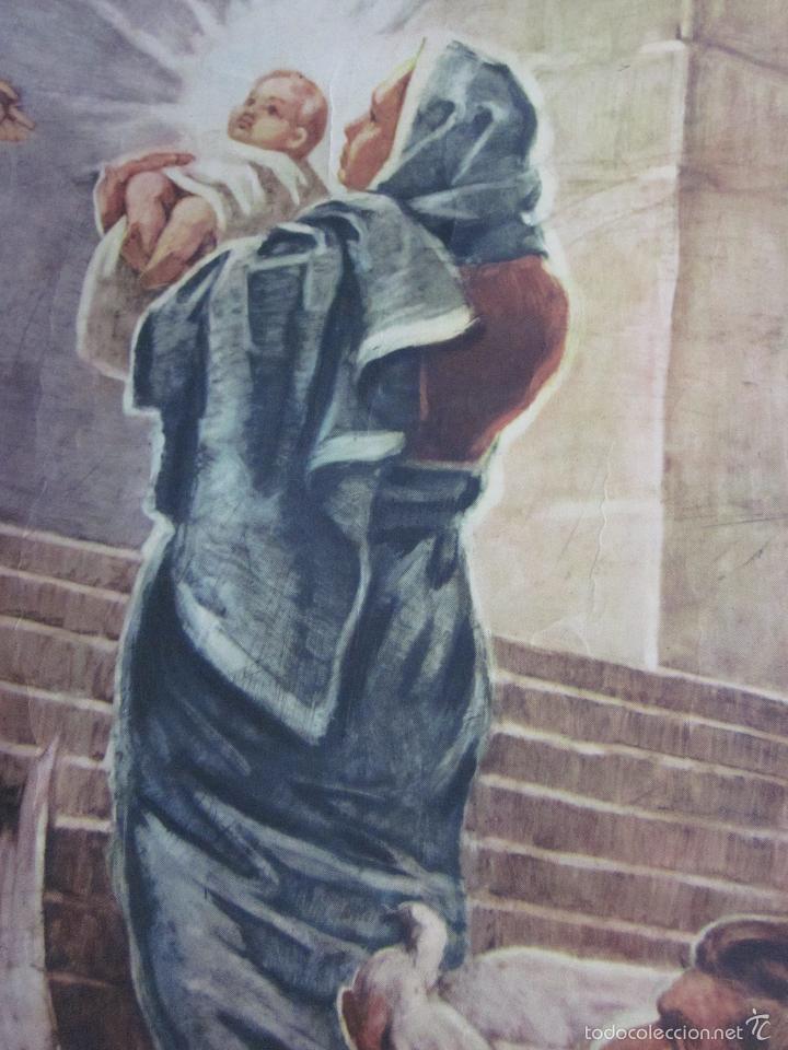 Arte: CARTEL PRESENTACION NIÑO JESUS EN EL TEMPLO. EDIT JOSÉ VILAMALA. CATEQUESIS ESCUELA AÑOS 20-30. - Foto 3 - 61249347