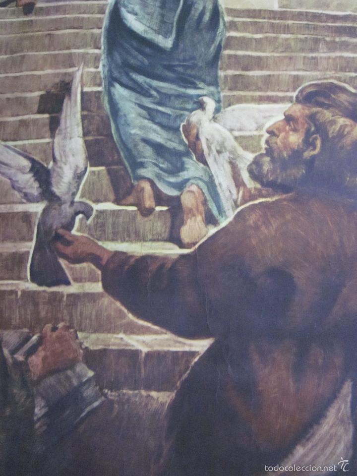 Arte: CARTEL PRESENTACION NIÑO JESUS EN EL TEMPLO. EDIT JOSÉ VILAMALA. CATEQUESIS ESCUELA AÑOS 20-30. - Foto 5 - 61249347