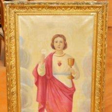 Arte: ESCUELA ESPAÑOLA DE APROXIMADAMENTE 1900. FIRMADO M. TOMAS. IMAGEN DE JESUS DE NIÑO. Lote 61322323