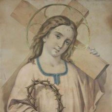 Arte: GR-120. NIÑO JESUS. LITOGRAFIA ENRIQUECIDA. LITOGRAFIAS BARRY. PARIS. SIGLO XIX. . Lote 61327023
