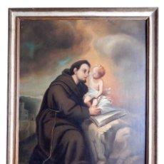 Arte: SAN ANTONIO, OLEO SOBRE TELA, SIGLO XIX.. Lote 116385018