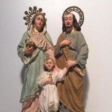 Arte: SAGRADA FAMILIA EN ESTUCO ANTIGUA SIGLOXIX.. Lote 61907844