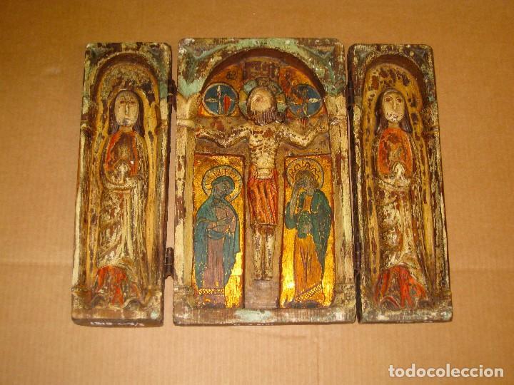 TRÍPTICO EUROPEO S. XIX (Arte - Arte Religioso - Trípticos)