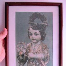 Arte: HUECOGRABADO SANTO NIÑO JESUS DE GRANADA - FOURNIER - AÑOS 60 - ENMARCADO 35 X 26 CM. (MARCO). Lote 62206472