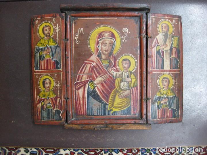 TRÍPTICO EUROPEO XIX (Arte - Arte Religioso - Trípticos)