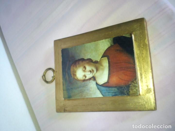 Arte: MAGNIFICO ICONE LA MADONA ES UNA LAMINA ,MADERA MACIZA PAN DE ORO 24K, MAD ESPAÑA - Foto 6 - 62710868