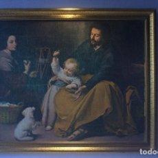 Arte: BONITA LÁMINA ENMARCADA - SAGRADA FAMILA DEL PAJARITO DE MURILLO. Lote 62750000