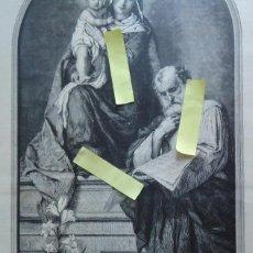 Arte: LITOGRAFIA VINTAGE ARTE DIBUJO ILUSTRACION ARTISTICA 1882 SAGRADA FAMILIA NAZARET JOSE MARIA JESUS. Lote 63169256