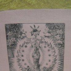 Arte: N. S. DEL PILAR DE ZARAGOZA - GRABADO SOBRE SEDA. Lote 63361240