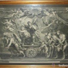 Arte: J3-014 - EL TRIUNFO DE LA FE. GRABADO ATRIBUIDO A BONNART. RUBENS. SIGLO XVII. Lote 40905972
