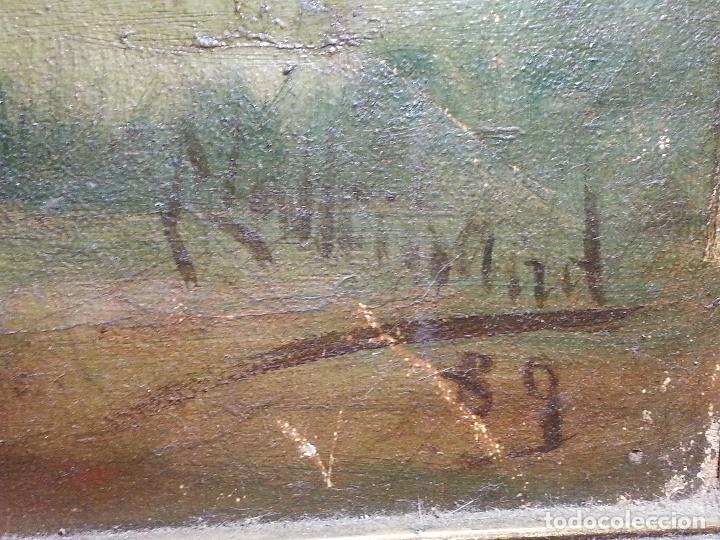 Arte: firmado año 1889 pintura francesa religiosa oleo san vicente de paul gran marco dorado - 100 x 77 cm - Foto 48 - 173414897
