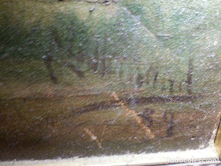 Arte: firmado año 1889 pintura francesa religiosa oleo san vicente de paul gran marco dorado - 100 x 77 cm - Foto 49 - 173414897